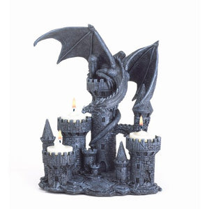 Dragon Candle Holder Medieval Castle Magic Myth Fantasy Accent
