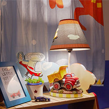 Transportation Imagination Kids Lamp  Inspiring Hand Painted Accent