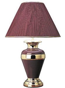 International Metal Lamp With Pleated Shade Home Decor Accent Modern Traditional Muted Tones