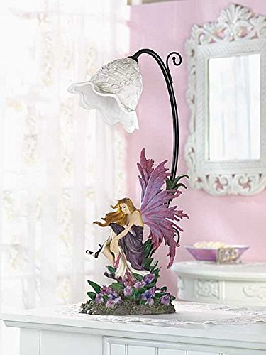 Fairy Table Lamp Shade Fantasy Contemporary Indoor Decor Metal Base Unique Home Decor Accent Sale
