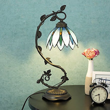 Tiffany Style Arched Lamp Floral Leaf Lotus Shape Stained Glass Fantasy art nouveau Home Accent