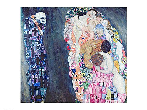 Death and Life by Gustav Klimt Art Print, 16 x 12 Wall Art Home Accent
