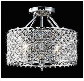 Chrome Crystal Round Ceiling Chandelier