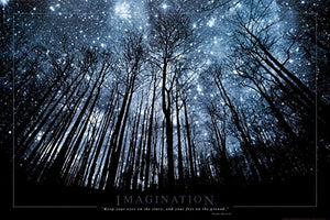 Imagination Your Eyes on the Stars and Your Feet on the Ground Art Print Poster  24 x 36