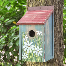 Retro Mailbox Painted Bird House Wood Bird Nest Garden Patio Accent
