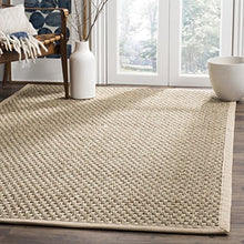 Safavieh Natural Fiber Collection Basket Weave Natural Beige Sea Grass Hand Woven Traditional Area Rug (5' x 8')  Organic Homely Home Decor Accent