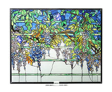 Stained Glass Tiffany Style  Wisteria Art Glass Panel Floral Accent