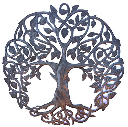 Design Celtic Inspired Tree of Life, Metal Wall Art,  Hand crafted  from Haiti Artsians, 23