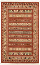Unique Modern Contemporary Tribal Nomad  Area Rug Other Sizes Rust Red Blacks High Quality Durable Easy Care Home Decor Floor Stain Fade Resistant