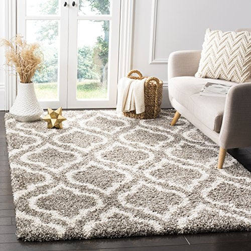 Safavieh  Hudson Shag Collection Moroccan Geometric Area Rug Durable Contemporary Modern Unique Superior Quality Home Decor Accent