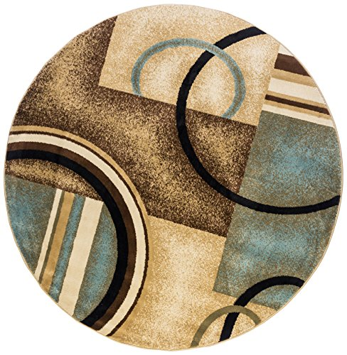 Shapes Area Rug Modern Varies Sizes Circles Shapes 100% Poly Multiple Ddimensions Easy Care Duable Contemporary Unique Backing Superior Quality