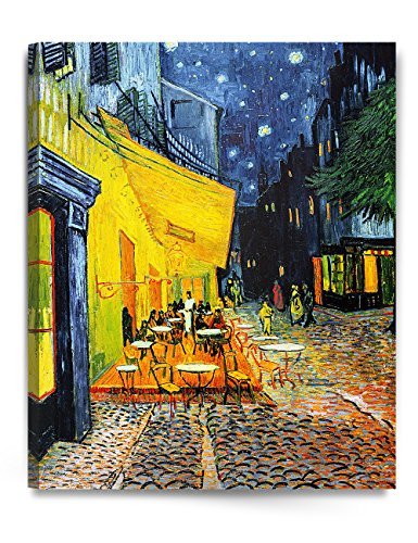 Vincent Van Gogh. Cafe Terrace At Night, Classic Art Print On Stretched Canvas 24x30