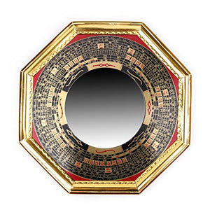 Traditional  Chinese Feng Shui Convex alloy Bagua Mirror Luck Protection Home Decor Accent