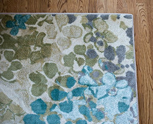 Mohawk Home Aurora Radiance Printed Rug Abstract Aqua Lime  Gray Taupe 100% Nylon Low Pile Modern Unique Varies Colors Home Decor Accent