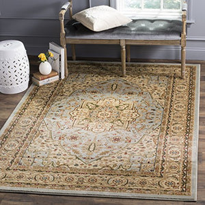 Safavieh Lyndhurst Collection Traditional Oriental Medallion Ivory  Red Area Rug (10' x 14') Superior Quality Persian Home Decor Accent