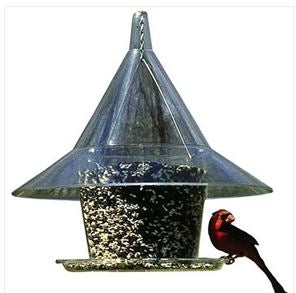 Squirrel-Proof Wild Bird Feeder  Feeds 10 Birds Stations Wildlife Garden Patio Lawn Home Accent