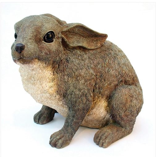 Home Garden Accent Bunny Rabbit Outdoor Garden Statue in Brown Resin Patio Lawn Wildlife