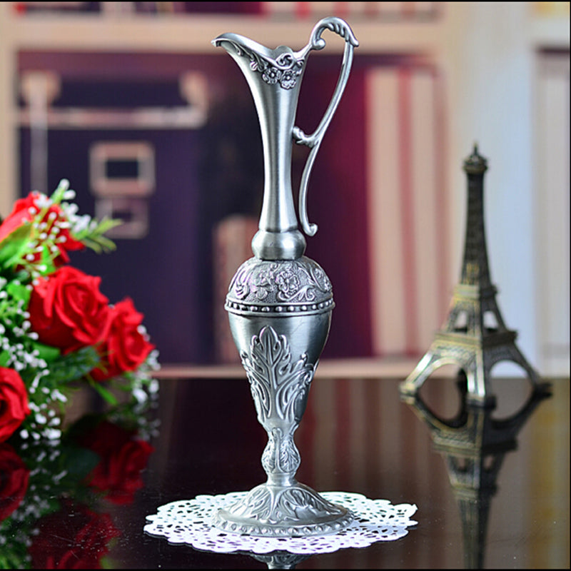 New arrival selling hot pewter plated metal flower vase for home decoration