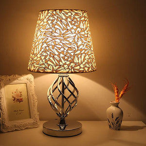 Contemporary Modern Table Lamps Iron Open Spiral Home Decor Table Top Accent Fabric Shade