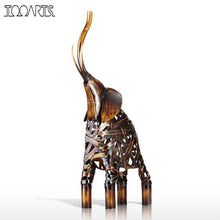 Metal Weaving Elephant Figurine protection strength  wisdom intelligence Accent Home Feng Shui