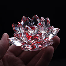 Feng Shui Crystal Glass Lotus Flower Purity  spiritual purity perfection Accent Home Decor