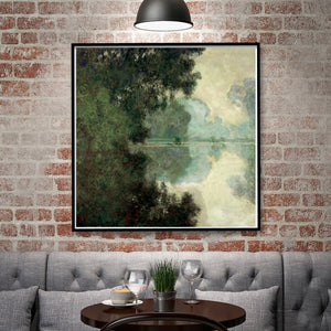 Monet Senna River Impressionist Landscape  Art Print  Wall Art  Accent Home Decor Accent Vivid