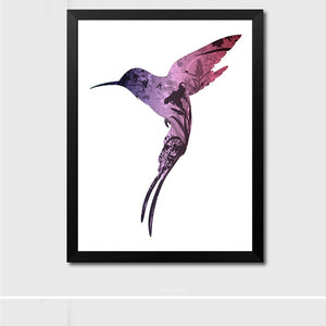 Hummingbird Watercolor Bird Painting Creative Wall Poster Any Room Decor Animal Picture Home