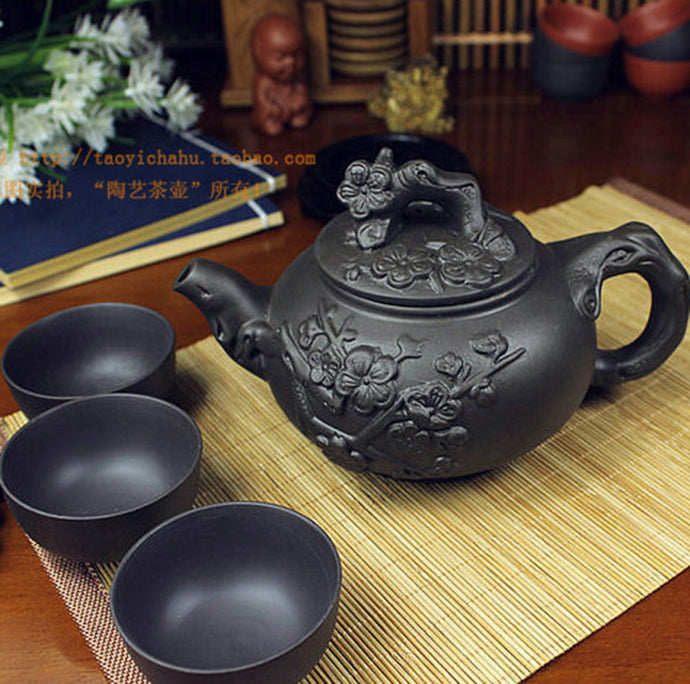 Tea Pot Cup Set Chinese  Yixing Zisha Tea Pot Cups Kung Fu Teapots Zisha Ceramic Accent Home Decor