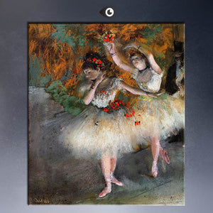 Degas Two Dancers Entering the Stage Art Poster Print Wall Art Home Decor Classical Impressionist