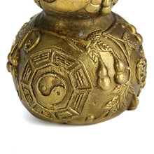 Feng Shui Chinese Brass Gourd heart Health Luck Gourd Ornaments Accent Home Decor Traditional
