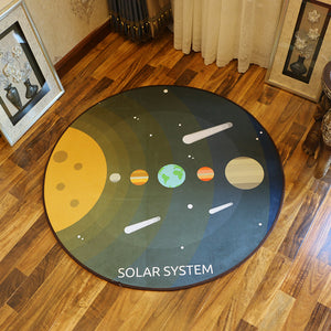 Comets Cosmic Meteor Rain Space Carpet Round Modern Rugs and Carpets  Any Room Accent Home Decor