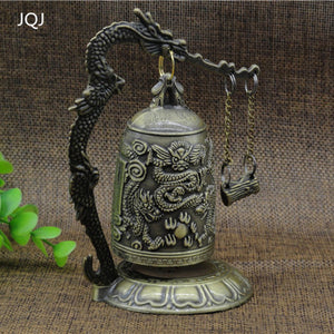 Classical Zinc Alloy Bronze Dragon Strength Carved Buddhist Chinese Feng shui  Accent Home Decor