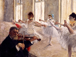"Degas Dancers in Class ""The Rehearsal"" Print Poster Accent Impressionist Wall Art Home Decor"