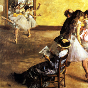 egas Class of Ballet Dancers White Impressionist Home Decor Accent Classical Print Image Wall Art