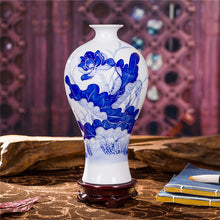 Jingdezhen Vase Blue white Vase Decorated Quality Ceramic Vase Accent Home Decor Classical