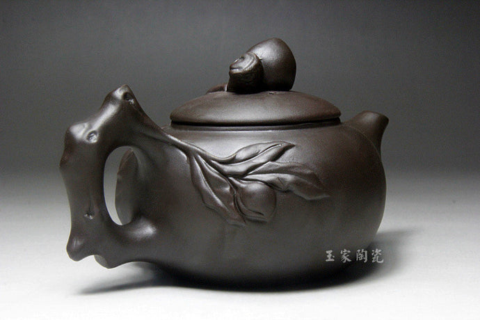 Clay Chinese Yixing Zisha Peach-shaped Tea Kung Fu Set Ceramic Teapots Accent Home Decor