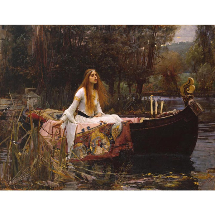 Waterhouse The lady of Shalott Greek mythology Arthurian legend Art Print Wall Art Accent Home