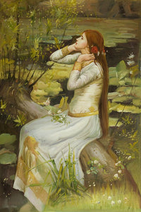 Waterhouse Ophelia Greek mythology Arthurian legend Art Print Poster Wall Art Accent Home Decor
