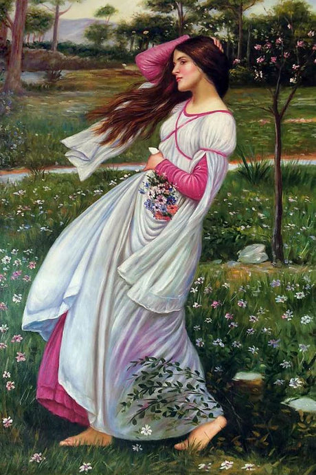 Waterhouse WindflowersGreek mythology Arthurian legend Art Print Poster Wall Art Accent Home Decor