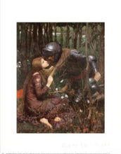 Waterhouse Lady with Knight  Greek mythology Arthurian legend Art Print Wall Art Accent Home Decor