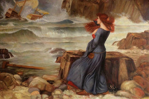 Waterhouse The Tempest Greek mythology Arthurian legend Art Print  Wall Art Accent Home Decor