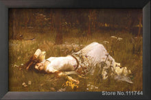 Waterhouse Ophelia Pre-Raphaelite Greek mythology Arthurian legend Print Poster Wall Art Accent