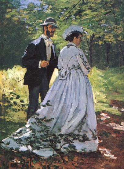 Monet The Promenaders Camille Bazille Impressionist Art Print Poster Wall Art Accent Home Decor