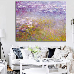 Monet Flowers Landscape Impressionist Art Print Poster Wall Art Classical Accent Home Decor Vivid