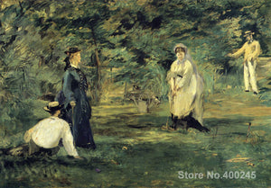 Manet The Game of Croquet  Art Print Wall Picture Poster Impressionist Accent Home Decor