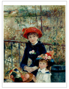 Renoir Two Sisters On The Terrace Art Print Picture Impressionist Wall Art  Accent Home Decor Image