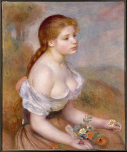 "Renoir ""Young Girl With Daisies""Impressionist Print Paintings  Poster Picture  Accent Home Decor"