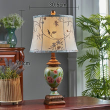 Vase Style Accent Lamp Bird Floral Design Shade Chines Hand Painted Accent Home Decor Classical