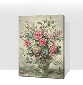 Flower Roses Floral Pink Red Blooms Arrangement Vase  Accent Home Decor Still Life Classical