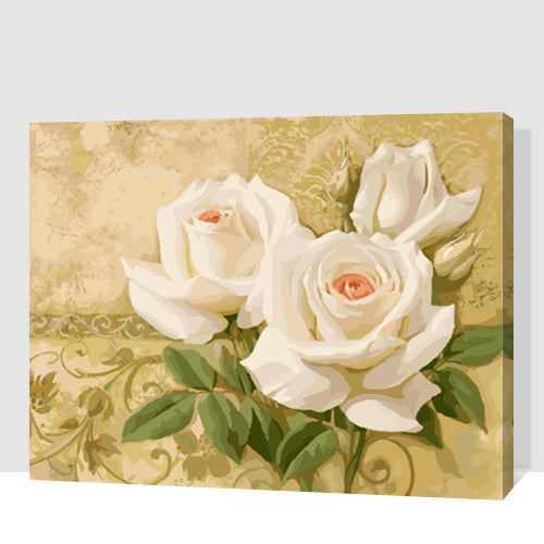 White Roses Floral Composite Flowers  Accent Wall Ready Art Home Decor Art Print Picture Poster